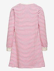Wood Wood - Aya kids dress - kleider - off-white/pink stripes - 1