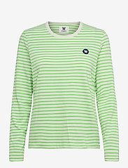 Moa stripe long sleeve - OFF-WHITE/GREEN STRIPES