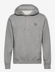 Ian hoodie - GREY MELANGE/GREEN