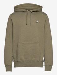 Ian hoodie - SLATE GREY/GREEN