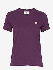 Wood Wood - Uma T-shirt - t-shirts basiques - aubergine - 0