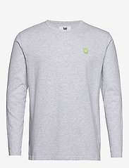 Wood Wood - Mel long sleeve - À manches longues - light grey melange - 0