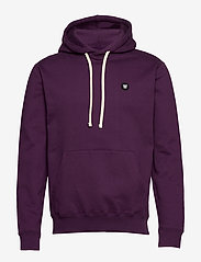 Wood Wood - Ian hoodie - basic sweatshirts - aubergine - 0
