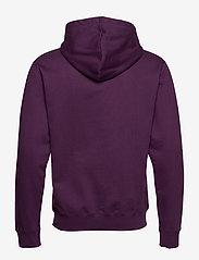 Wood Wood - Ian hoodie - basic sweatshirts - aubergine - 1