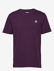 Wood Wood - Ace T-shirt - basic t-shirts - aubergine - 0