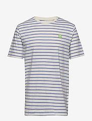 Wood Wood - Ace T-shirt - À manches courtes - off-white/blue stripes - 0