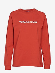 Wood Wood - Han long sleeve - sweatshirts - rust - 0