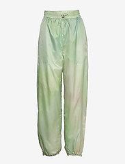 Wood Wood - Joice track trousers - sweatpants - green aop - 0