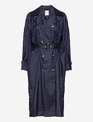 Wood Wood - Karin trench coat - trenchcoats - navy - 0
