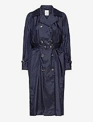 Wood Wood - Karin trench coat - trenchcoats - navy - 1