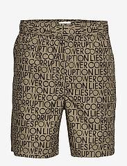 Wood Wood - Hamilton shorts - krótkie spodenki - taupe aop - 0