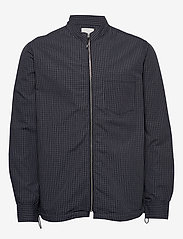 Wood Wood - Abbott shirt - bomberjackor - navy check - 0