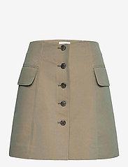 Wood Wood - Lotte iridescent twill skirt - korta kjolar - olive - 0