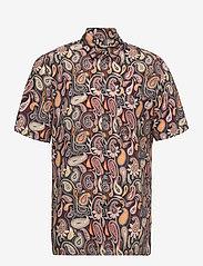 Wood Wood - Thor paisley shirt SS - geruite overhemden - navy aop - 0