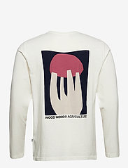 Wood Wood - Peter shroom long sleeve - t-shirts basiques - off-white - 1