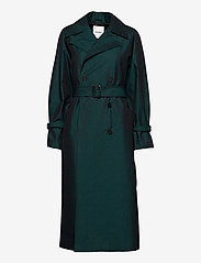 Wood Wood - Sara iridescent trench coat - trenchcoats - black - 0