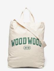 Wood Wood - High canvas shopper - shoppers - dark emerald - 0
