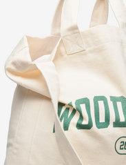 Wood Wood - High canvas shopper - shoppers - dark emerald - 3