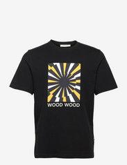 Wood Wood - Sami lightening T-shirt - korte mouwen - black - 0