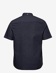 Wood Wood - Michael oxford shirt SS - linnen overhemden - navy - 1