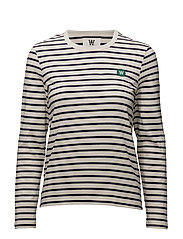 Moa long sleeve - OFF-WHITE/NAVY STRIPES