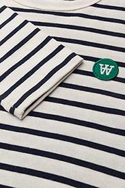 Wood Wood - Moa long sleeve - langærmede toppe - off-white/navy stripes - 2