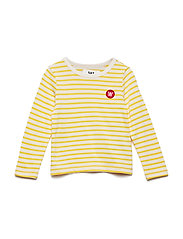 Kim kids long sleeve - OFF-WHITE/YELLOW STRIPES
