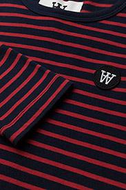 Wood Wood - Kim kids long sleeve - langärmelige - navy/red stripes - 1