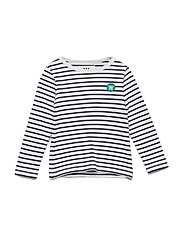 Kim kids long sleeve - OFF-WHITE/NAVY STRIPES