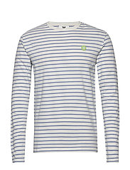 Mel long sleeve - OFF-WHITE/BLUE STRIPES