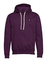 Ian hoodie - AUBERGINE
