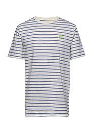 Ace T-shirt - OFF-WHITE/BLUE STRIPES