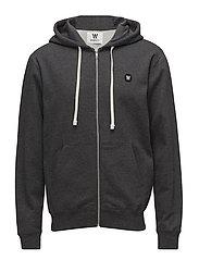 Dan zip hoodie - DARK GREY MELANGE
