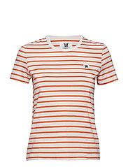 Uma T-shirt - OFF-WHITE/ORANGE STRIPES