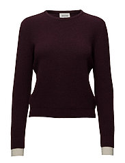 Regina sweater - BURGUNDY