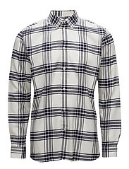 Piero shirt - NAVY/OFF-WHITE CHECK