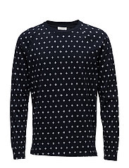Han long sleeve - NAVY AOP