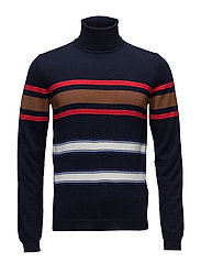 Jaques turtleneck - NAVY STRIPE