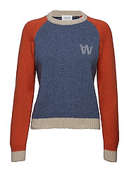 Asta sweater - DUSTY BLUE COLORBLOCK