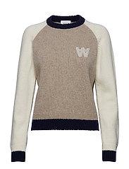 Asta sweater - KHAKI COLORBLOCK