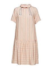 Delphine dress - LIGHT ROSE STRIPE