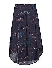 Gertrude skirt - FLOWERS NAVY