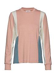 Sally long sleeve - LIGHT ROSE COLORBLOCK