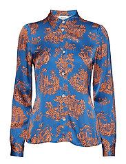 Renata shirt - TOURIST BLUE