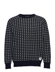 Samuel sweater - NAVY JAQUARD