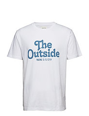 The Outside T-shirt - BRIGHT WHITE