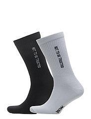 Gail 2-pack socks - WHITE/BLACK