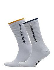 Gail 2-pack socks - BRIGHT WHITE STRIPE