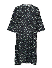 Jensine dress - BLACK AOP