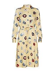 Hilde dress - YELLOW AOP